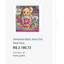 Boneca Baby Alive Comer E Brincar Loira- Português