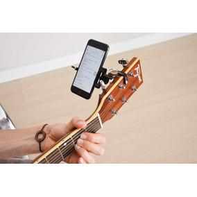 Suporte De Celular Para Violão, Guitarra|cifrashelf(preto)