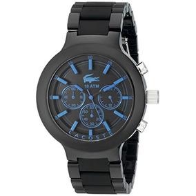Reloj Negro Borneo 2010772 Lacoste De Los Hombres Con La...