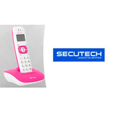 Teléfono Inalambrico Secutech 1213 Altavoz Lcd Caller Id Ros