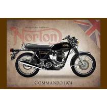 Moto Norton Carteles Antiguo Chapa Gruesa 60x40cm Mot-005