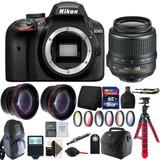 Nikon D3400 24.2 Mp Cámara Réflex Digital 18-55mm Lente 16gb