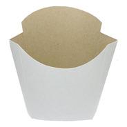 Estuche De Papas Fritas Pap2 X 100u Packaging Blanco Madera