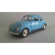 Fusca Volkswagen Azul Claro Escala 1.32