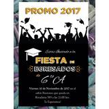 Invitación De Egresados Graduación Primaria / Secundaria Byn