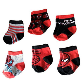 Calcetines Infantiles Marvel Spider-man Superhero Para Be...