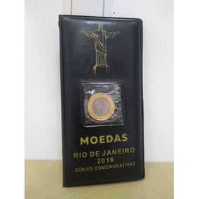 Album Das Moedas Das Olimpíadas + Moeda Da Bandeira