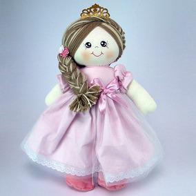Kit Bonecas De Pano Princesa Rosa Pmg