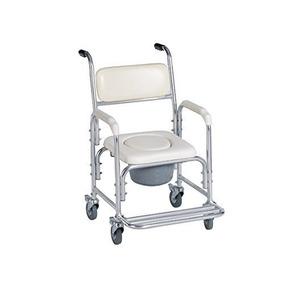 Silla De Ruedas Con Comodo-baño Portatil-ducha-discapacidad