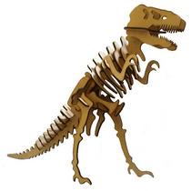 Dinossauro T-rex Mdf - Quebra-cabeça Puzzle 3d Corte Laser