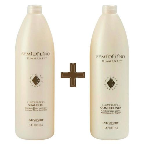 Alfaparf Semidilino Diamante Duo Salon Shampoo Condicionador