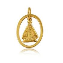 Pingente Ouro 18k Relicário Nossa Senhora Aparecida .0.80 Gr