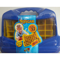 Box Car Maleta Porta Carrinhos Estilo Hot Wheels 52 Garagens