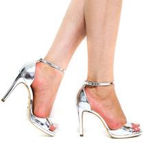 Sandália Cecconello Metalizado Feminino 973009 | Zariff
