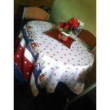 Mantel De Navidad En Tela 1.5x1.5mts Usalo En Toda Mesa
