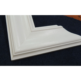 Moldura Para Espejo Laca Blanca