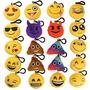 Ivenf Pack De 20 5cm / 2 \mini Emoji Llavero Cojín Almohada