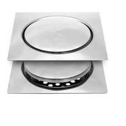 Ralo Inteligente Click Para Banheiro 15x15 Cm Inox