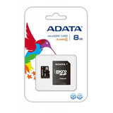 Memoria Microsd 8gb Adata,para Celulares,tablets,camaras,etc