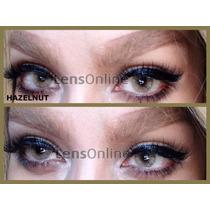 Lentes De Contacto Cosmeticos Hazel Y Bronze/ambar Aurora