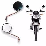 Retrovisor Espelho Moto Redondo Yamaha Dt 200 Preto Par 06