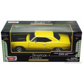 1969 Dodge Coronet Super Bee Amarelo - 1:24 - Motorma 1969