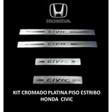 Kit Cromado Platina Piso Estribo Honda Civic