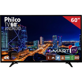 Smart Tv Led 60 Ph60d16dsgwn Philco, 4k Hdmi Usb Com Função