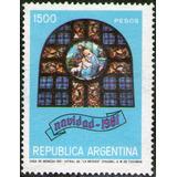 Argentina X 1 Navidad 1981 Vitral Iglesia De La Merced