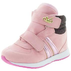 18815f42a Tênis Infantil Baby Rosa Via Vip - Vnj119 por Clovis Calcados