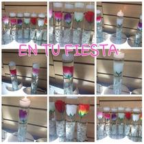 Oferta 10 Centros De Mesa Florero Vidrio 4x22 Bodas 15 Años