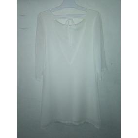 Vestido De Gasa Blanco