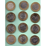 Moneda Veinte Pesos Conmemorativas Colección De 12 Piezas