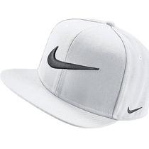 Bone Nike Branco Simbolo Preto Snapback Aba Reta