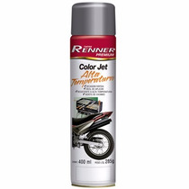 Tinta Spray Color Jet Alta Temperatura Preto Fosco