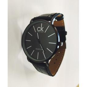 Relógio Slim Calvin Klein Fino Couro Social Masculino