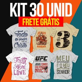 Camisetas Gospel Originais - Kit Com 30 Unidades Atacado