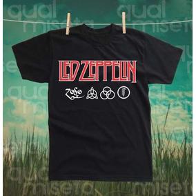 Camiseta Led Zeppelin Algodao Impressao Silk Screen