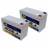 Bateria Selada Moura 12v 7ah P/ Nobreak Alarme - 2 Unidades