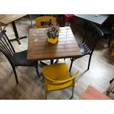 Mesa Con 4 Sillas Restaurantes Cafeterias Bares