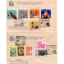 2 Envelopes Com Selos 150 Anos De Independência