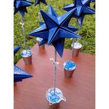 Centro De Mesa Estrella Origami Cumples Bodas Eventos