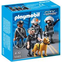 Playmobil Policía Equipo De Unidad Especial 5565 4 A 10 Años