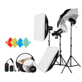 Kit De Iluminación Godox 120w Equipo Fotográfico P/ Estudio