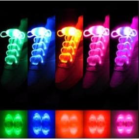 Lote 10 Agujetas Luminosas Luz Led Color Naranja Con Pila
