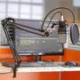 Pedestal/suporte Articulado Mesa P/ Microfone Estudio Radio