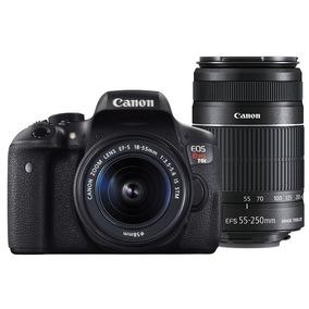 Câmera Digital Canon Eos Rebel T6i Kit Premium - Tela Lcd 3