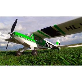 Aeromodelo Paulistinha Montado E Entelado Treinador Eletrico