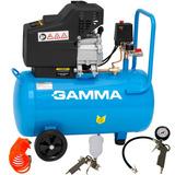 Compressor Para Pintura Com Pistola Gamma 50 Litros 2,5 Hp