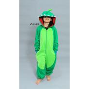 Kigurumi Pijama Niño Dinosaurio Verde - Envío Incluido